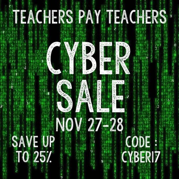 Cyber Sale  Simone's Math Resources