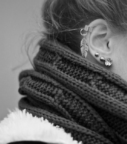 ..love the leaf cartilage earring