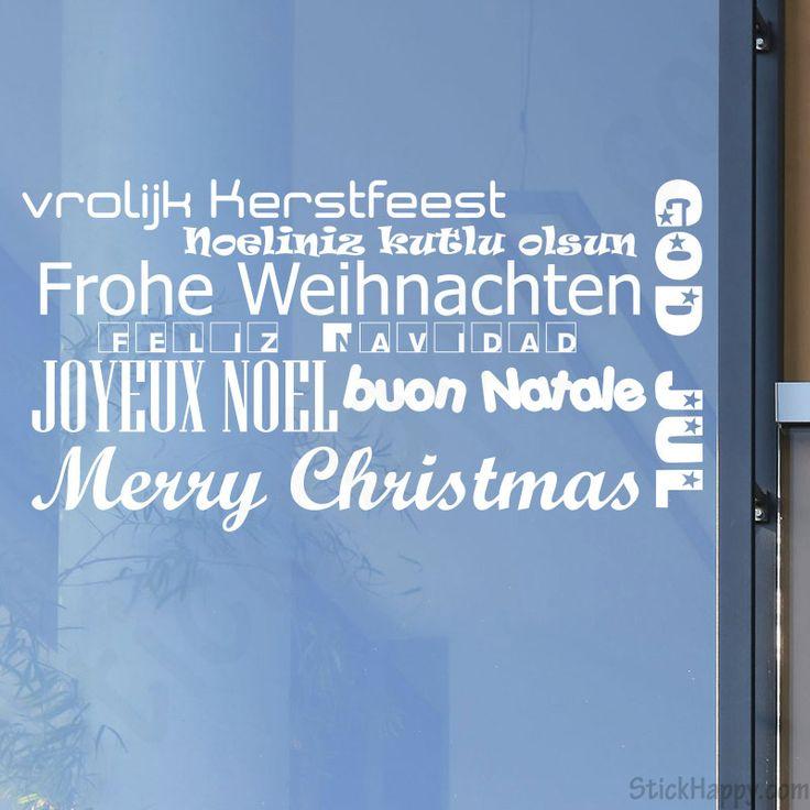 Stickers Joyeux Noël dans toutes les langues : composé du texte joyeux noel en 8 langues : français, anglais, italien, allemand, espagnol, norvegien, suèdois, neerlandais - http://www.stickhappy.com/stickers-noel/215-stickers-joyeux-noel-dans-toutes-les-langues.html