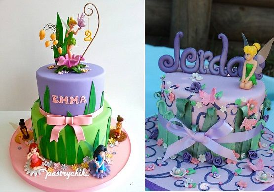 flower fairy cakes by Pastrychik left and Cake by Kim right