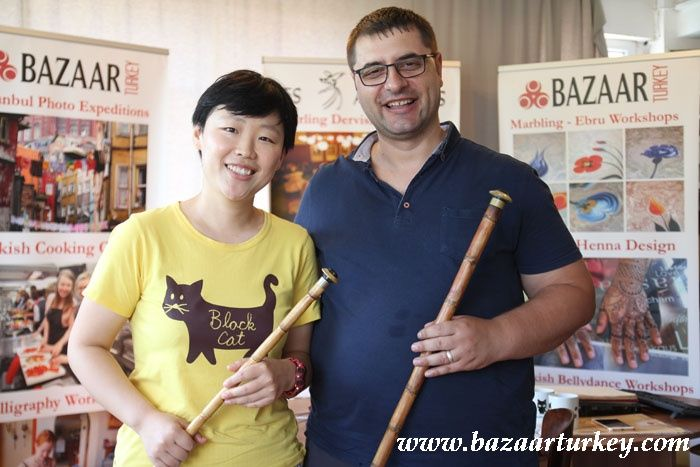 Turkish Music - Ney - Bendir Lesson in our workshop with our Teacher Murat - Sultanahmet / Istanbul August 2016 http://www.bazaarturkey.com/tours/turkish_music_lessons.html