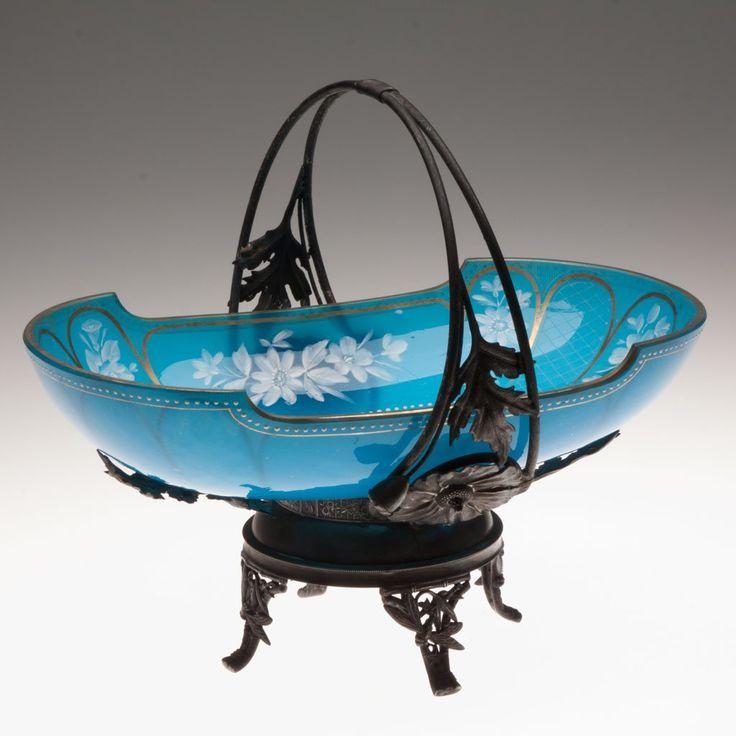 Victorian Opaline Brides Basket