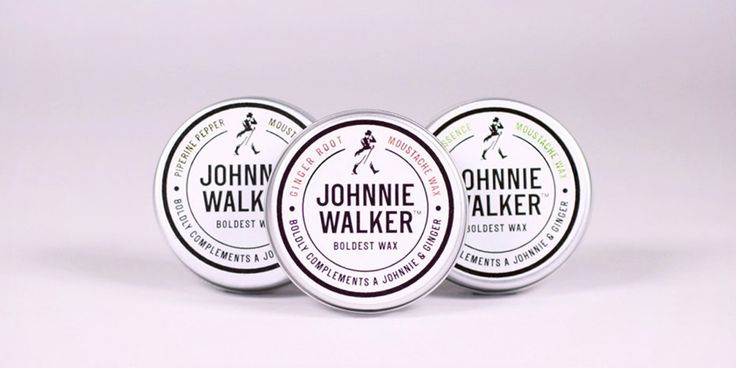 Johnnie Walker Moustache Wax — The Dieline - Branding & Packaging Design