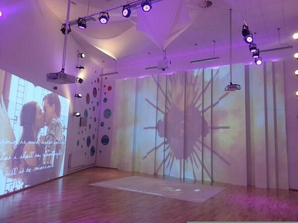 Immersive learning space at Ormiston Horizon Academy ready for a Romeo and Juliet performance. Great to see the school uploading their own content and programming the system for a totally immersive production!