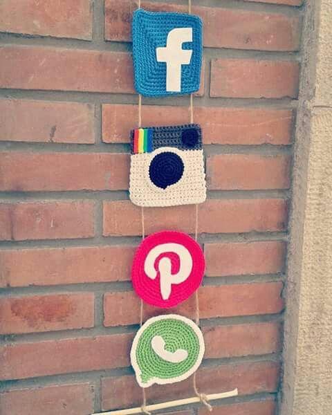 Redes sociales a crochet