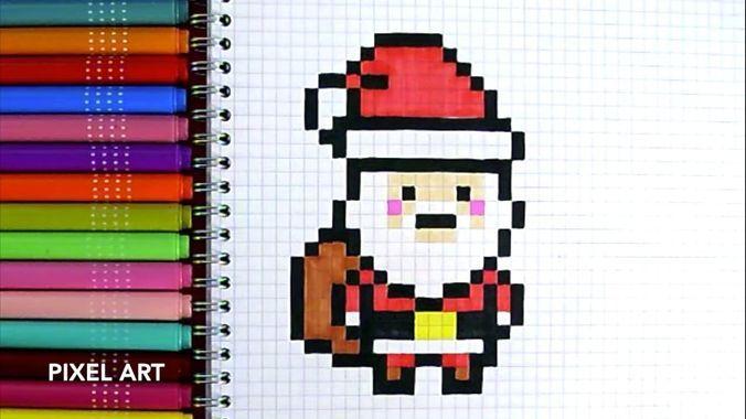 Pixel Art Comment Dessiner Un Père Noel 4 Le Monde Du