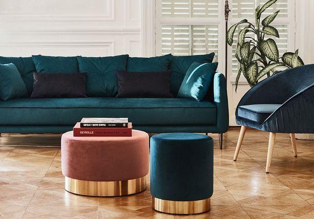 Les Plus Beaux Poufs Design Sont Ici Elle Decoration Pouf Design Mobilier Salon Deco Maison