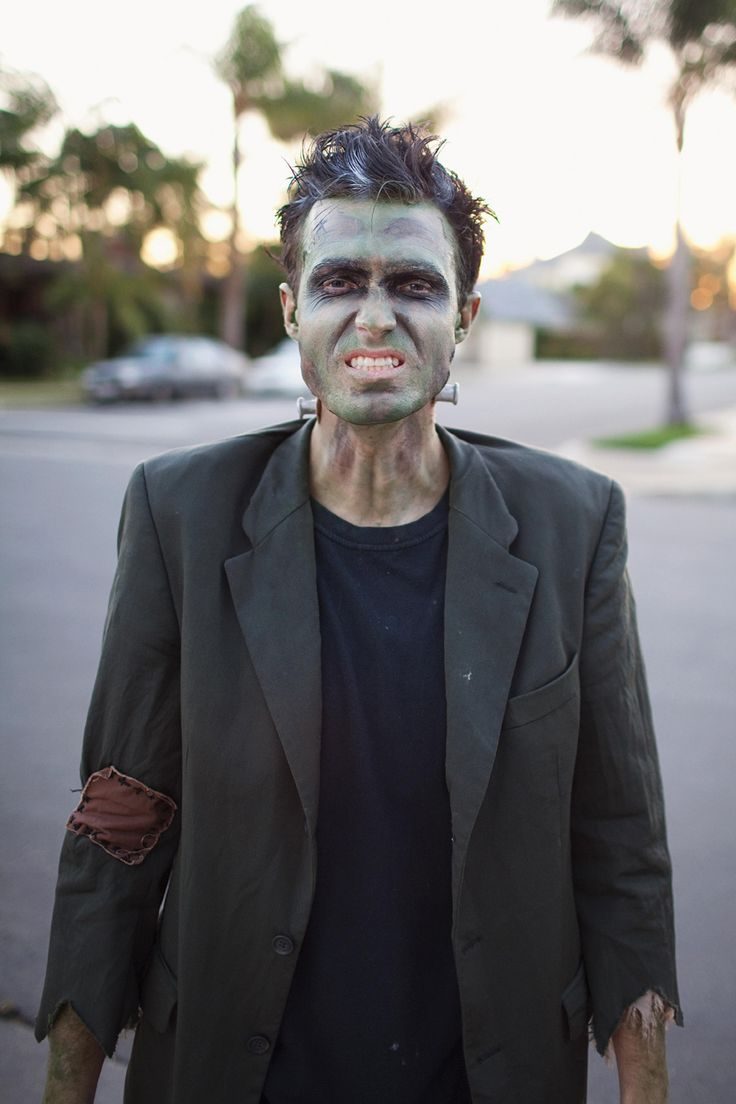 Frankenstein Halloween costume:  MONSTER FAMILY COSTUME DIY