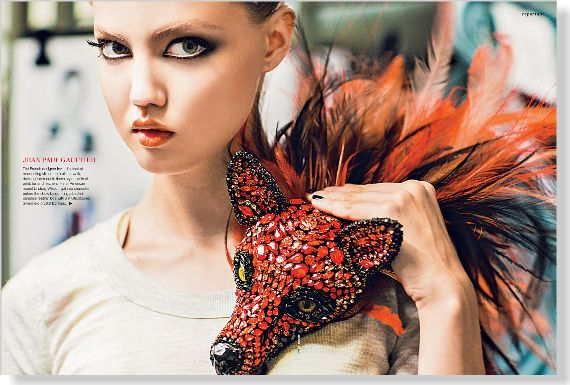 Reportage. Jean Paul Gaultier. Clipped from ©marie claire Australia using Netpage.