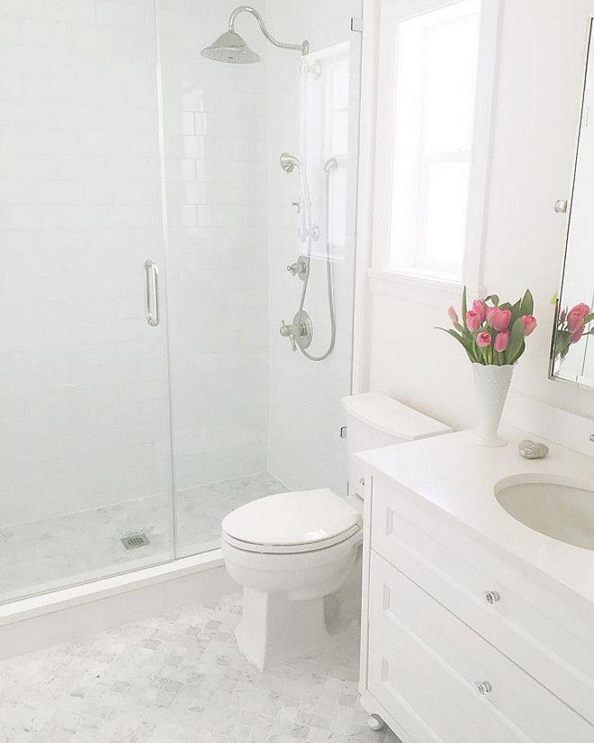 The 25 best small white bathrooms ideas on pinterest for Kids bathroom tile designs
