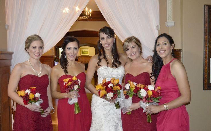 Calla Lily bouquets - stunning orange callas. Wedding at the Royal Ottawa Golf Club #ottawawedding #ottawadecorator #weddingbellesdecor #613 #elegantwedding #uniquewedding #rogc #RoyalOttawaGolfClub #WeddingBellesDecor