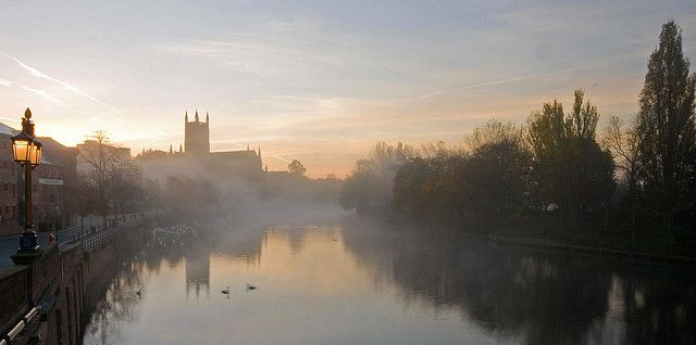 Worcester Cathedral, Autumn Morning