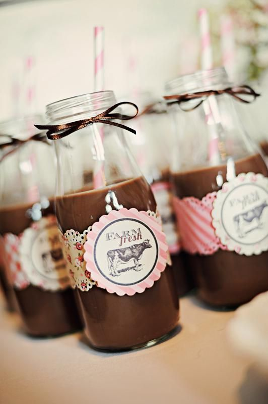 chocolate milk and pink lemonade!