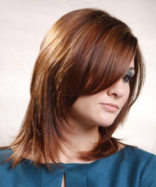 Medium Straight Light Brunette Hairstyle   Hair styles ...