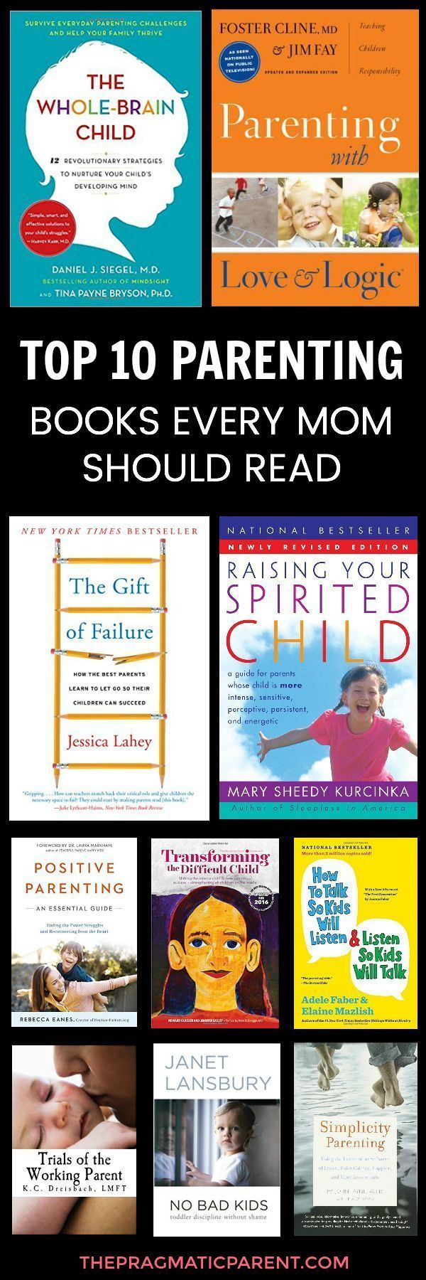 The 10 best parenting books every Mom needs to read. Helpful parenting advice for parents with a positive parenting approach and heart-centered focus on motherhood, parenting and positive discipline. These are the top 10 parenting books for parents. #bestparentingbooks #positiveparenting #positiveparentingtips #raisinghappykids