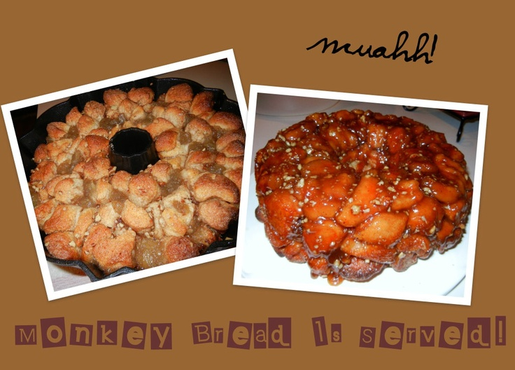 Monkey Bread Just made Fresh Out The Oven with a twist! Apples and Pecans! MMMMMMMM.....we love it