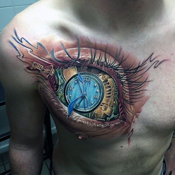 Mens Abstract Tattoo Inspiration Of Eyeball On Chest Tattoos For Guys Cool Tattoos For Guys Abstract Tattoo