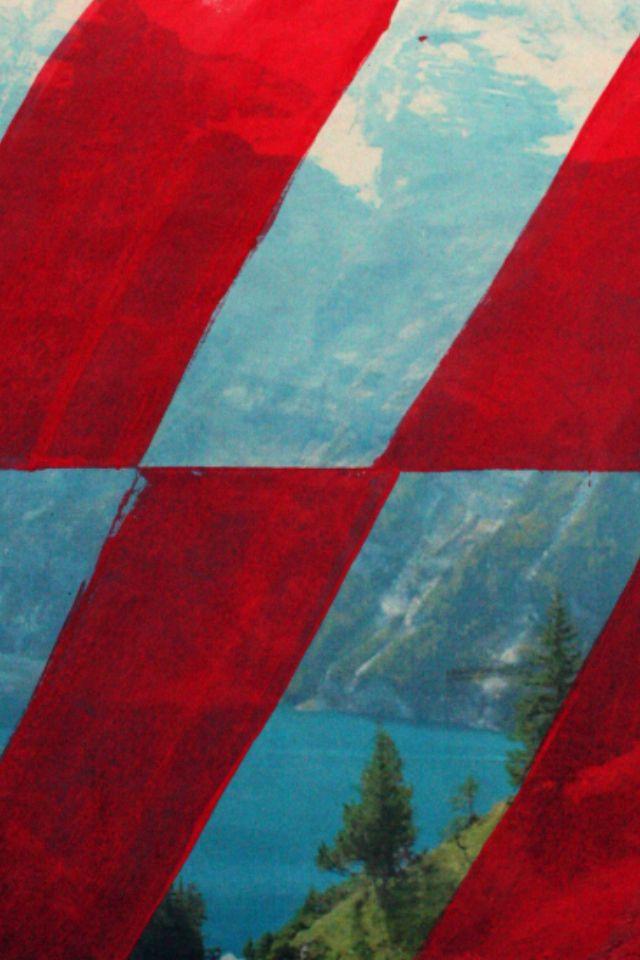 'Border and a Swiss landscape, {Etant Donnes}', 2013