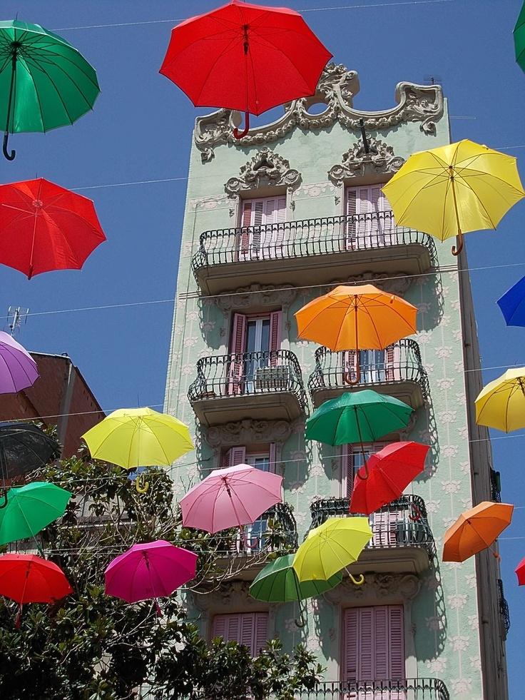 Festa Major de Gràcia, Plaza del Sol, Barcelona, Spain by Benoit Pieron.  www.liberatingdivineconsciousness.com