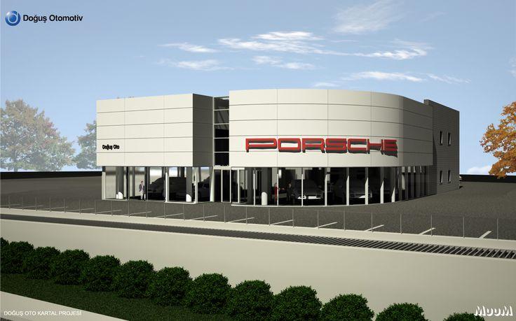 Doğuş oto kartal porche showroom binası hizmete açıldı