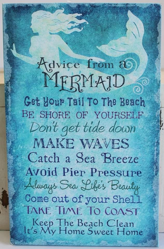 Mermaid sign perfect for a party
