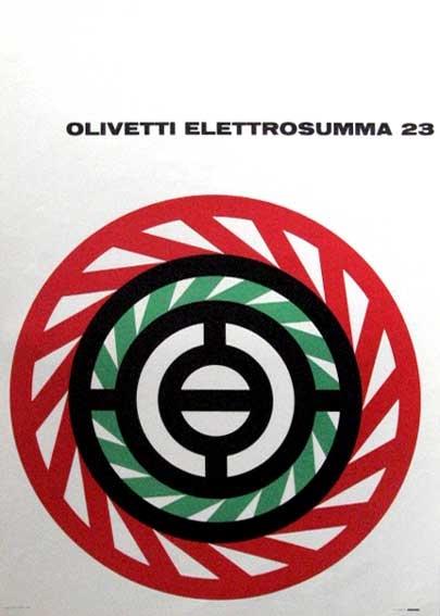Elettrosumma 23 Poster, Designed by Giovanni Pintori, 1956