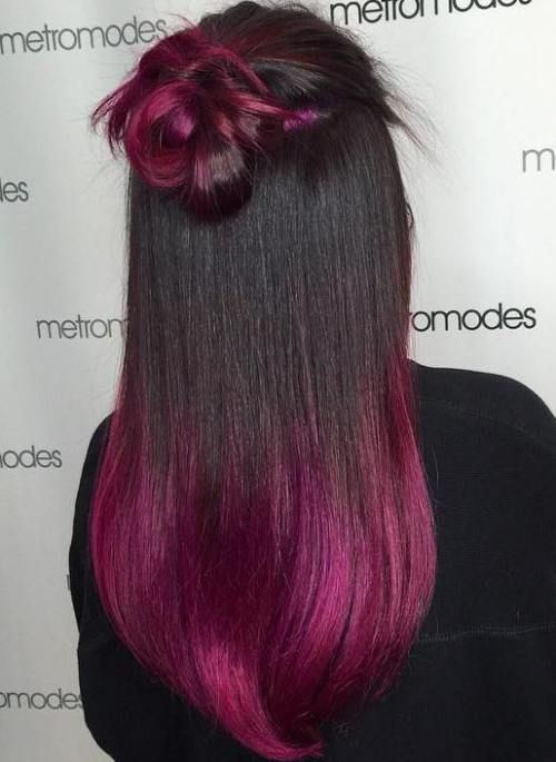 Burgundy Ombre For Black Hair