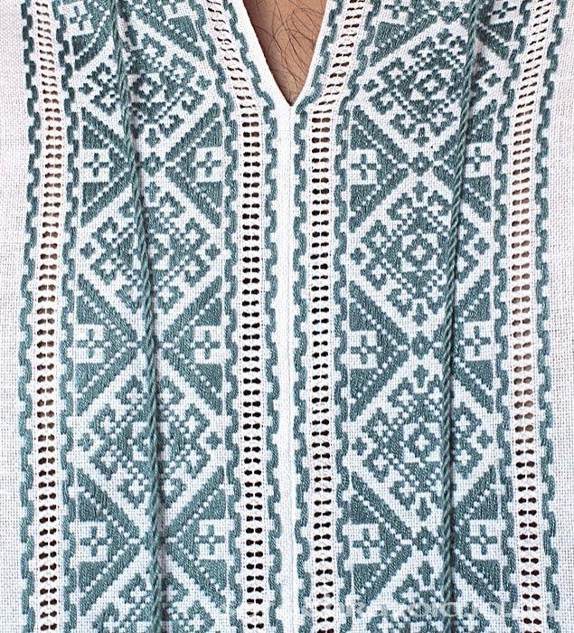 мужские вышиванки ручной работы голубые и синие ::: МАРКЕТ » Маркет - мужское…