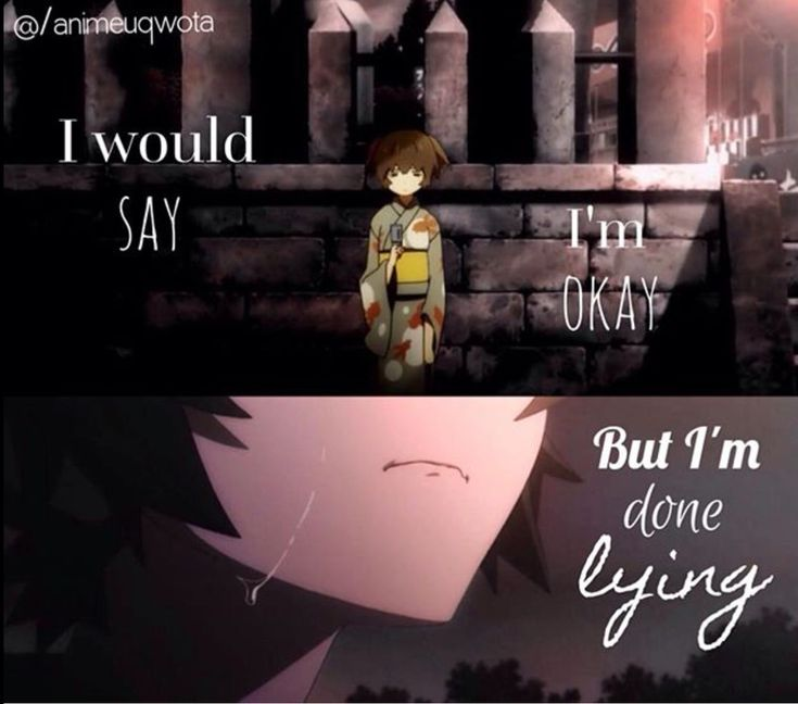 Emo Quotes About Suicide: Best 25+ Sad Anime Ideas On Pinterest