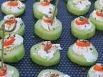 Recette - Bouchées concombre surimi   750g