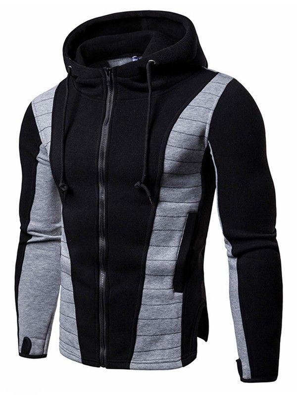 Fashion-Zipper Casual schwarz