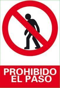 Resultado de imagen para señalizacion de prohibicion