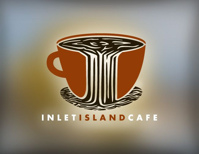 Inlet Island Cafe logo design by Iron Design