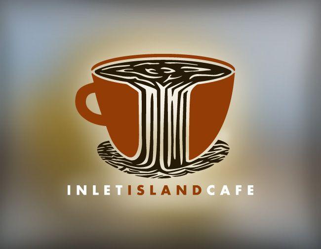 Inlet Island Cafe logo design by Iron Design