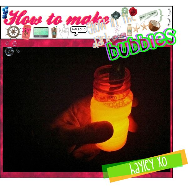 how to create glow in the dark bubbles