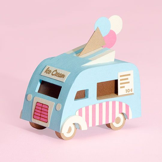 Jacqueline Wagner - Vintage Paper Art Inspired by iconic vintage finds. Stylised yet detailed, they are designed to work as stand-alone objects. - image vintage caravan retro blue beige green background