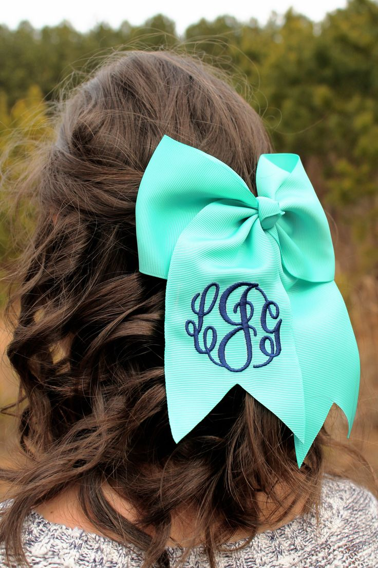 Memento - Personalized Monogrammed Gifts - Monogrammed Solid Hair Bow, $20.00 (http://www.shopmemento.com/monogrammed-solid-hair-bow/)