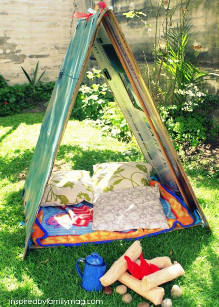 Camping, teepee, quiet corner, you decide, but the activity is easy to do, fun to make and hours of active, creative, free and inspiration play!