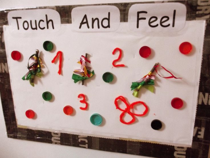 Touch and Feel sticky display for babies @AcornsNursery