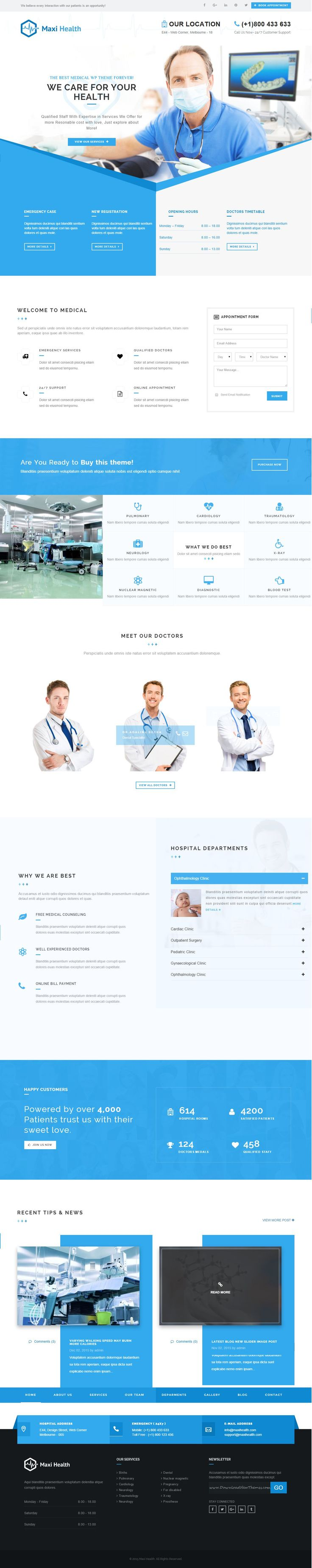 Maxi Health is Responsive #WordPress Theme for Medical, healthcare, hospital or clinic business related Marvelous  #website.