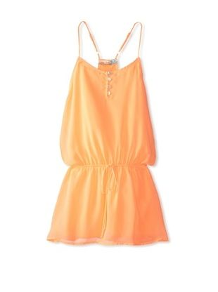 66% OFF Vintage Havana Girl's 7-16 Racerback Cover-Up Dress (Orange)