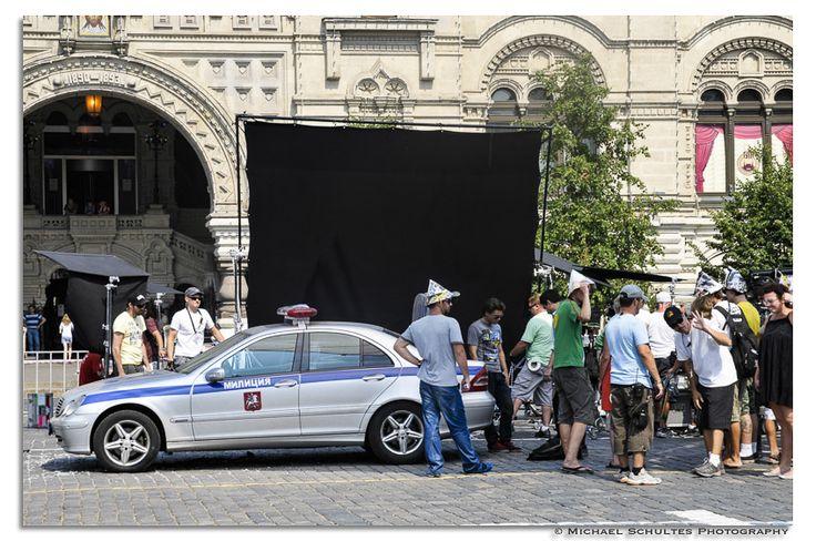 """Juli 2010 in Moskau, heute im TV - Moskau, Kreml, Roter Platz, Dreharbeiten zu """"the darkest Hour"""" © Michael Schultes - www.schultes-photo.de"""