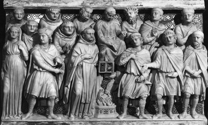 Arca San Domenico - Prova del fuoco che brucia i libri degli albigesi di Nicola…
