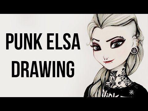 #elsa #frozen #punk #rebel #howto #tutorial #slipknot #dark #anna #krainalodu #disney #art #drawing #painting #speedart #noemisparkle #funny #hapy #cool #cartoon #rysowanie #youtuber #Elsa Frozen Punk Drawing Kraina Lodu - YouTube