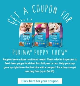 Free Purina Puppy Chow