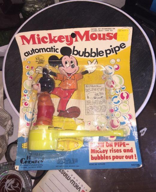 Vintage 1960's Walt Disney Mickey Mouse Bubble Blower Toy Plastic Pipe | eBay