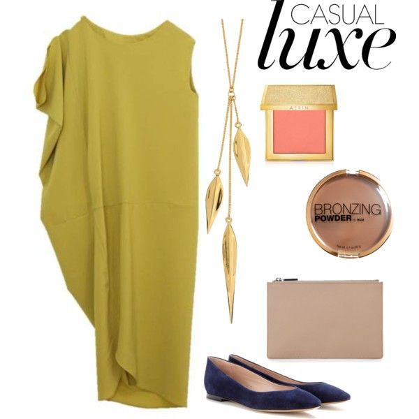 """Casual Luxe"" featuring Chloe©, Whistles, Dinny Hall, AERIN and H&M"