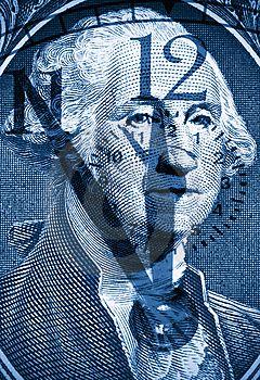George Washington From Us One Dollar Stock Image