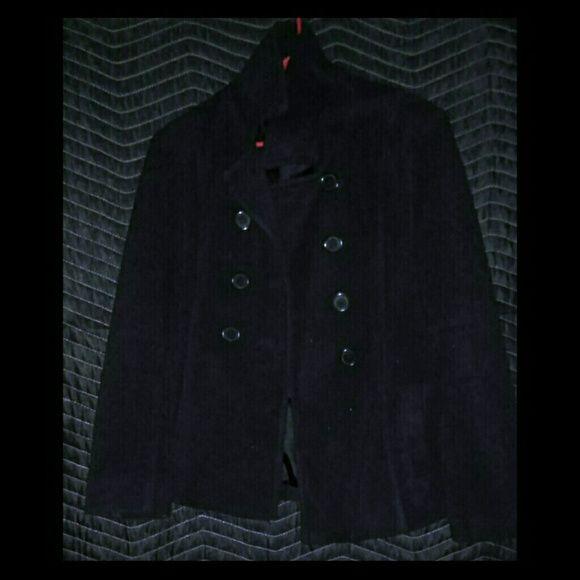 Pea coat Solid black cozy pea coat Old Navy Jackets & Coats Pea Coats