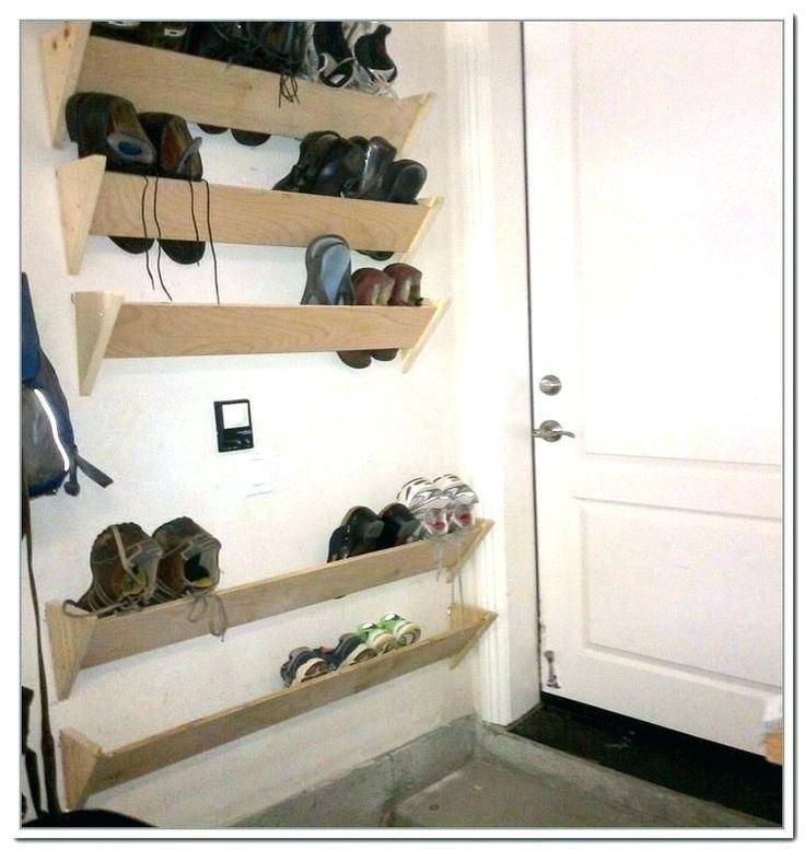 Wandschuh Organizer Turmontierte Schuhregale Wandschuhregal Schuhablage In Garag Garag Organizer Sch In 2020 Wall Shoe Rack Bench With Shoe Storage Wall Shoe Storage
